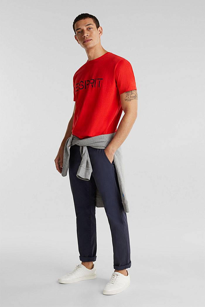 Jersey logo T-shirt, 100% cotton, RED, detail image number 2
