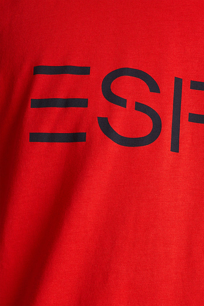 Jersey logo T-shirt, 100% cotton, RED, detail image number 5