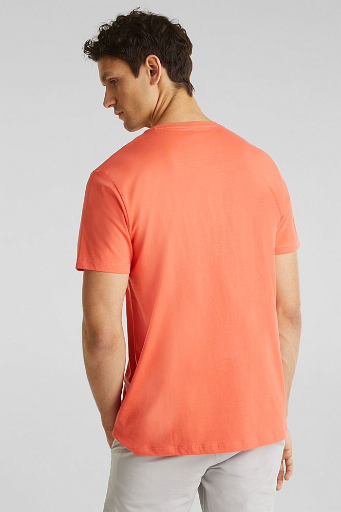 Jersey logo T-shirt, 100% cotton, CORAL, detail image number 2