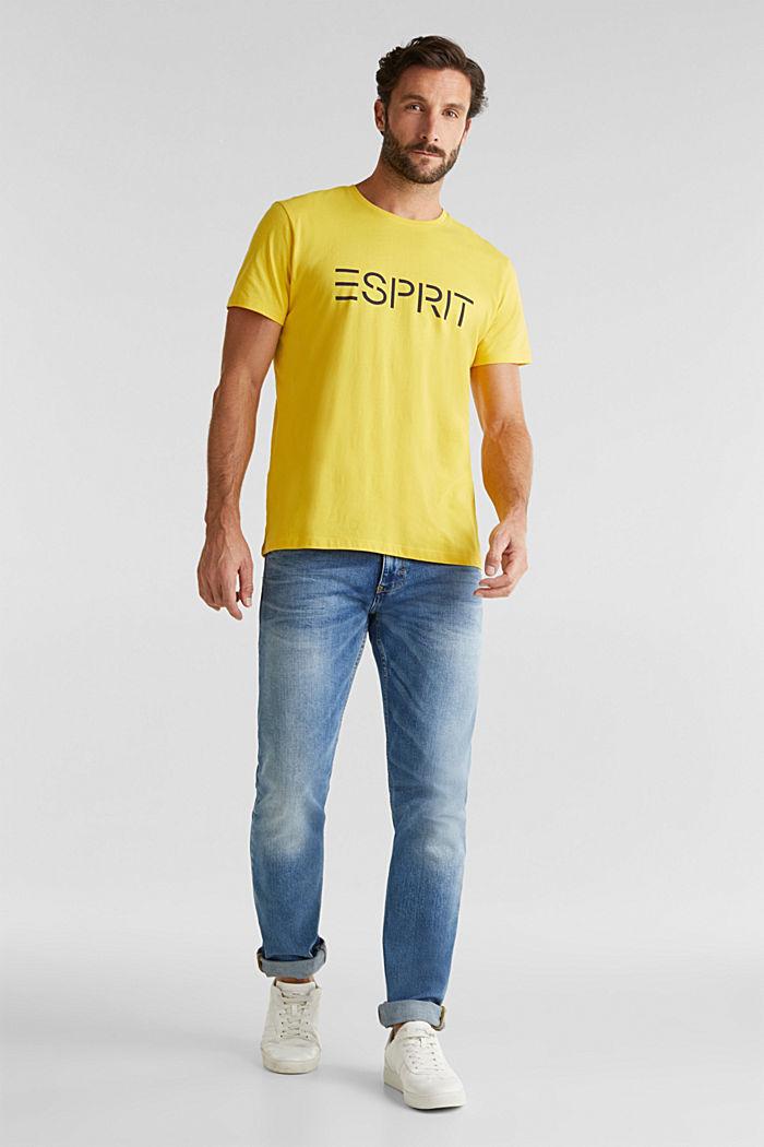 Jersey logo T-shirt, 100% cotton, YELLOW, detail image number 1