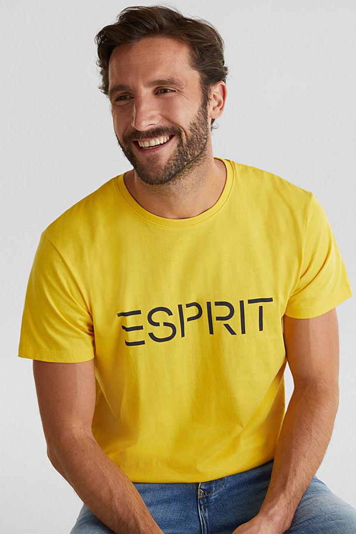 Jersey logo T-shirt, 100% cotton, YELLOW, detail image number 5