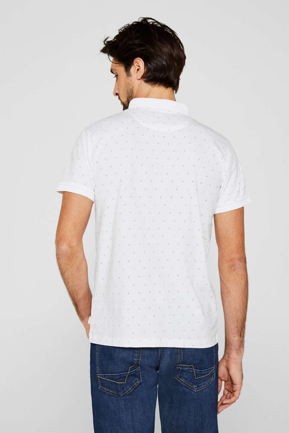 Jersey polo shirt in 100% cotton, WHITE 4, detail image number 3