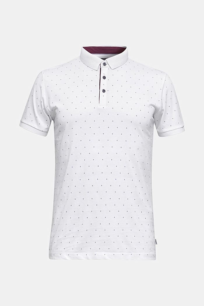 Jersey polo shirt in 100% cotton, WHITE, detail image number 0
