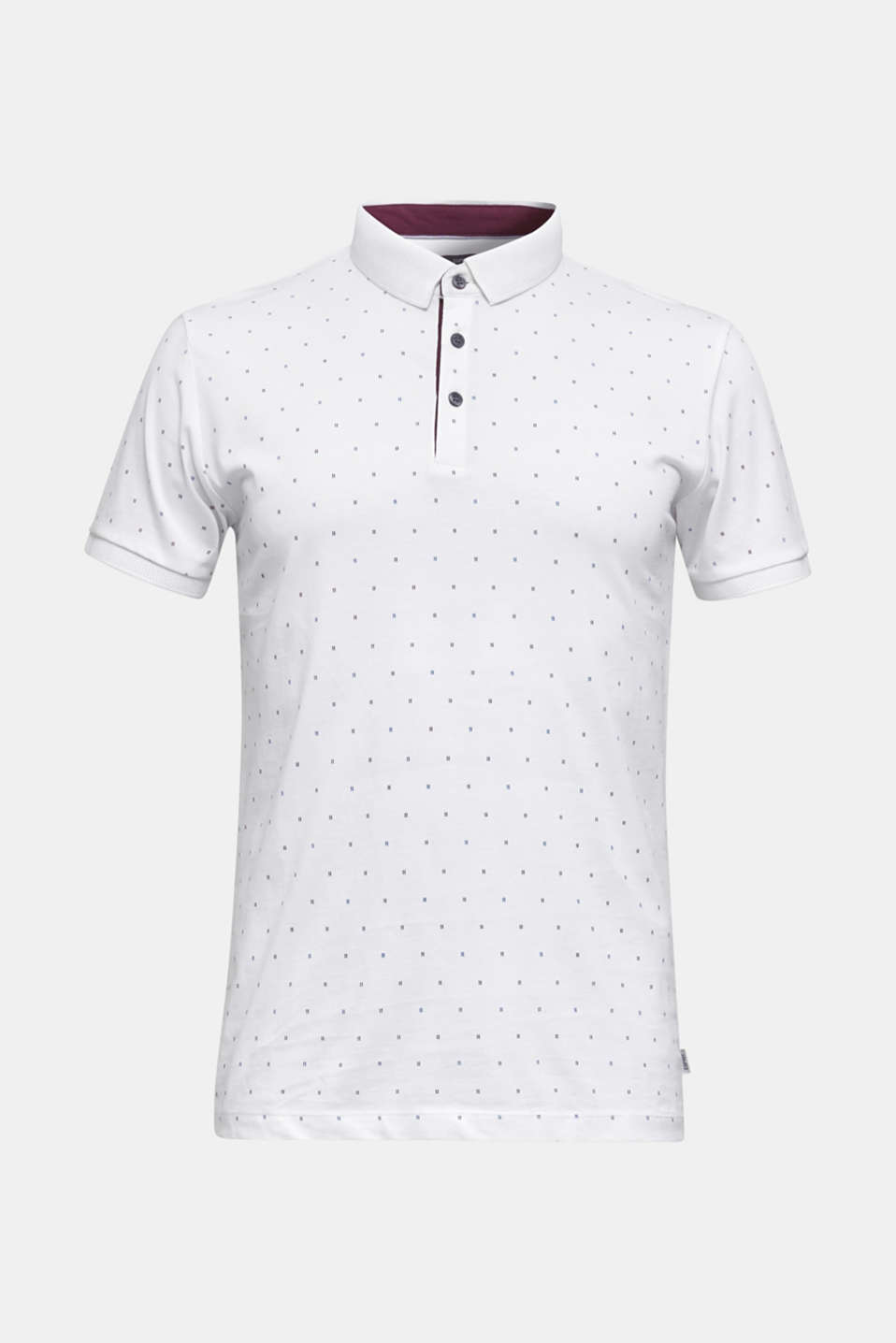 Jersey polo shirt in 100% cotton, WHITE 4, detail image number 6