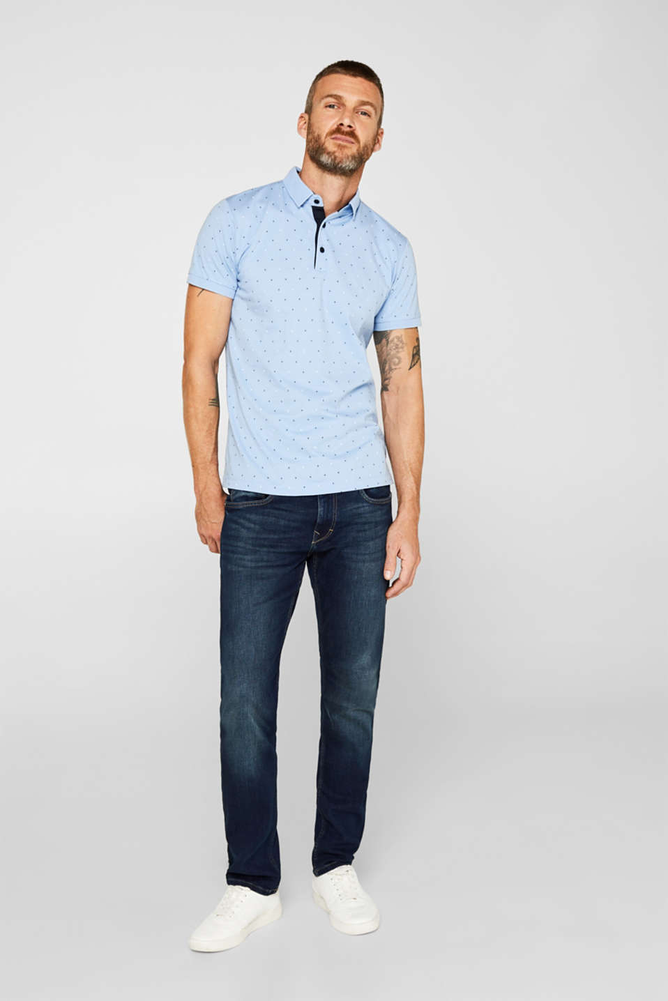 Polo shirts, LIGHT BLUE 4, detail image number 4