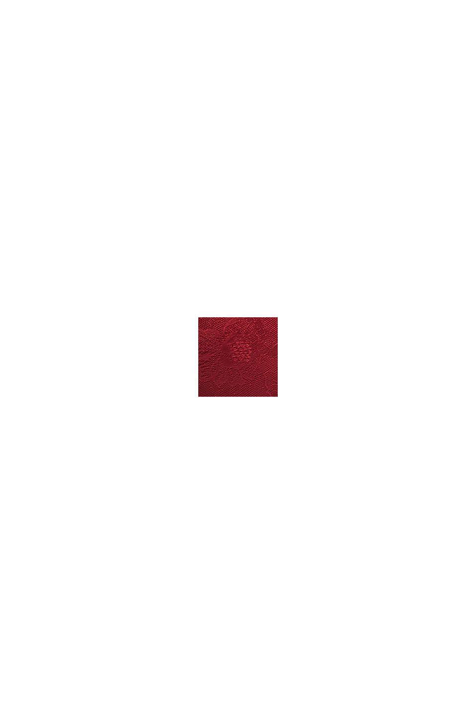 Push-up-bh van gebloemde kant, BORDEAUX RED, swatch