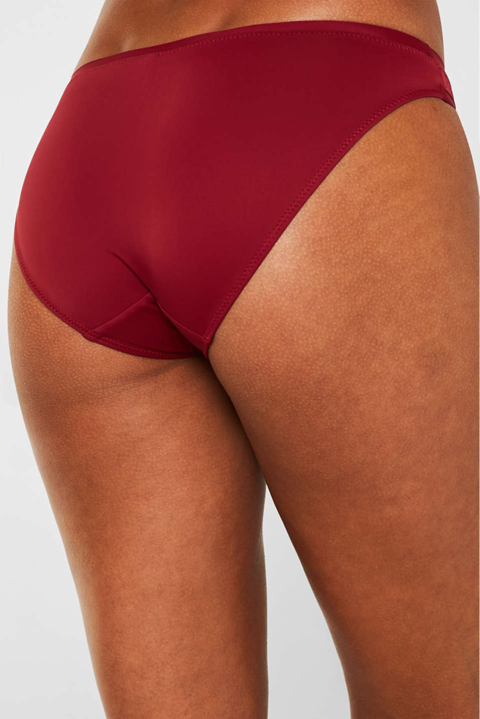Hipster briefs in lace, BORDEAUX RED, detail image number 1