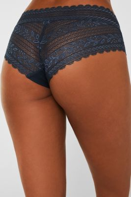 Hipster shorts in delicate lace, GREY BLUE, detail