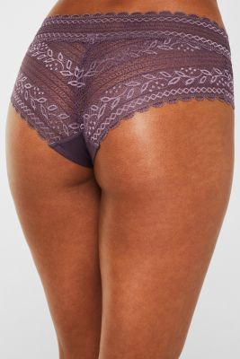Hipster shorts in delicate lace, BERRY PURPLE, detail