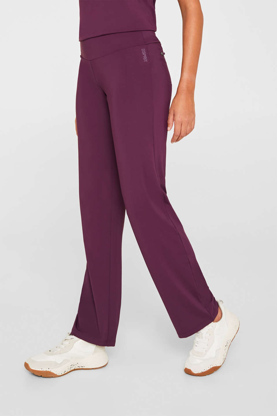 Esprit - Active trousers with a straight leg