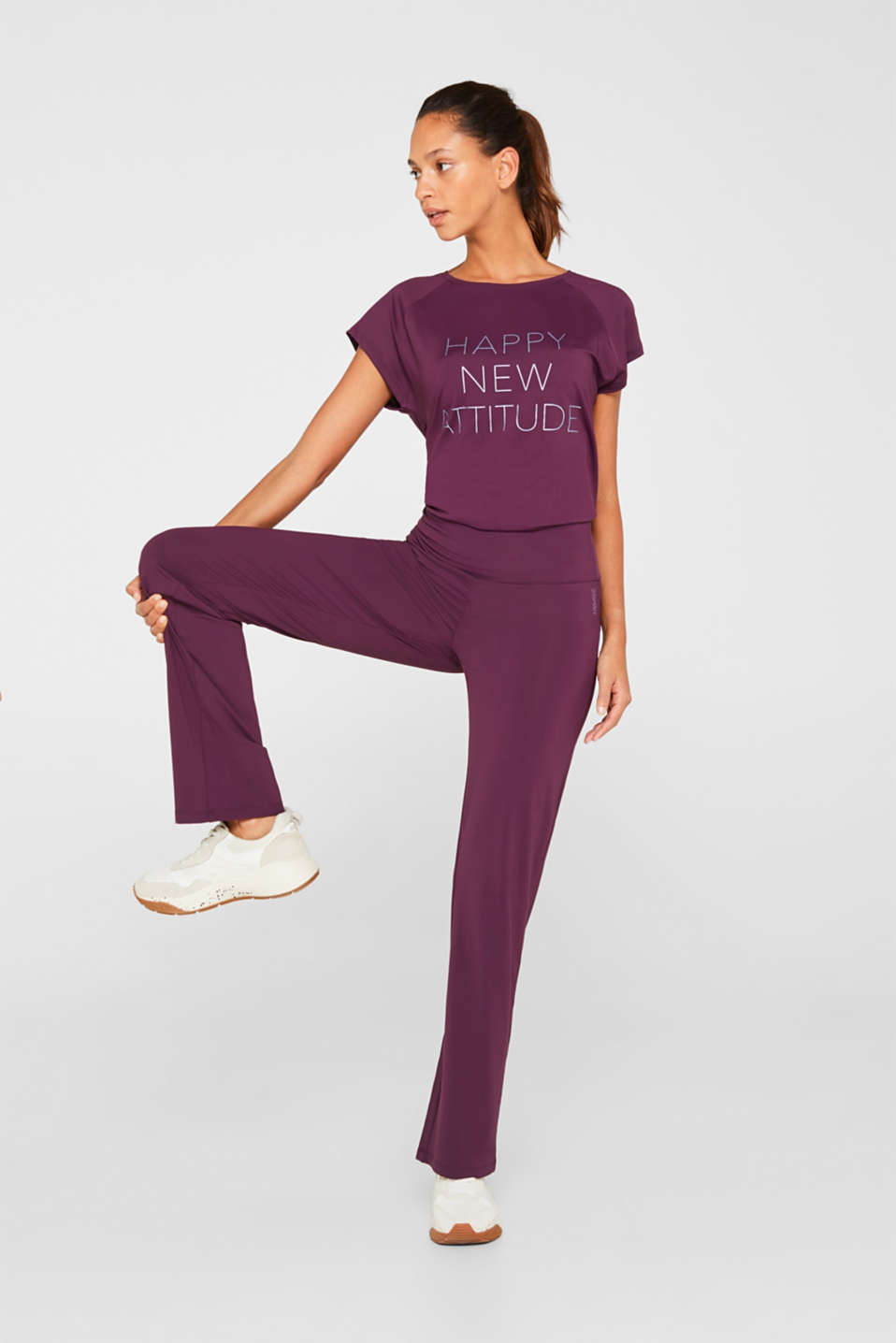 Active trousers with a straight leg