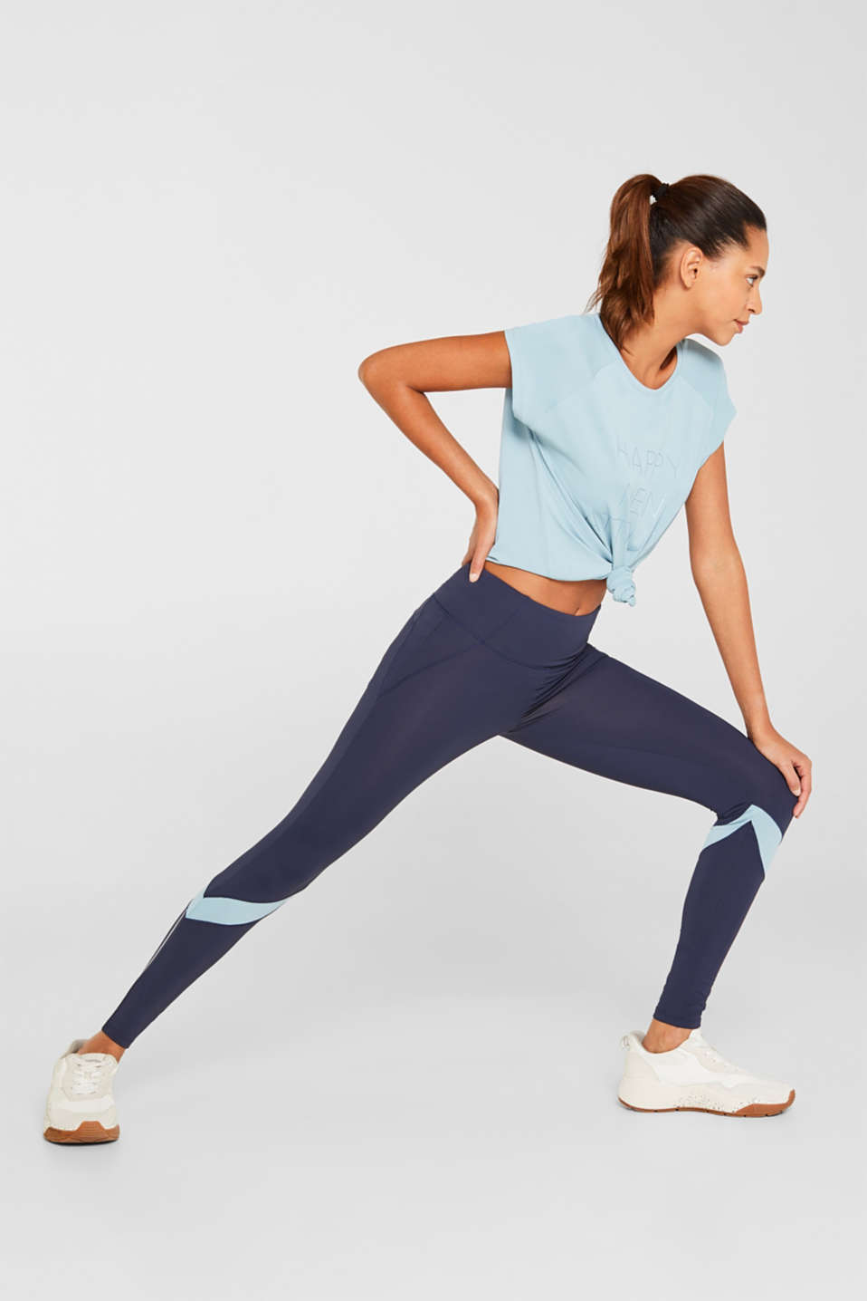 Esprit - Active-Leggings mit Blockstreifen, E-DRY