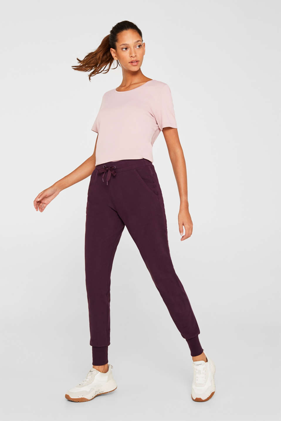 Stretch cotton jersey trousers