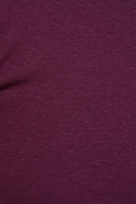 Long sleeve top with glittering stripes on the sleeves, AUBERGINE, detail