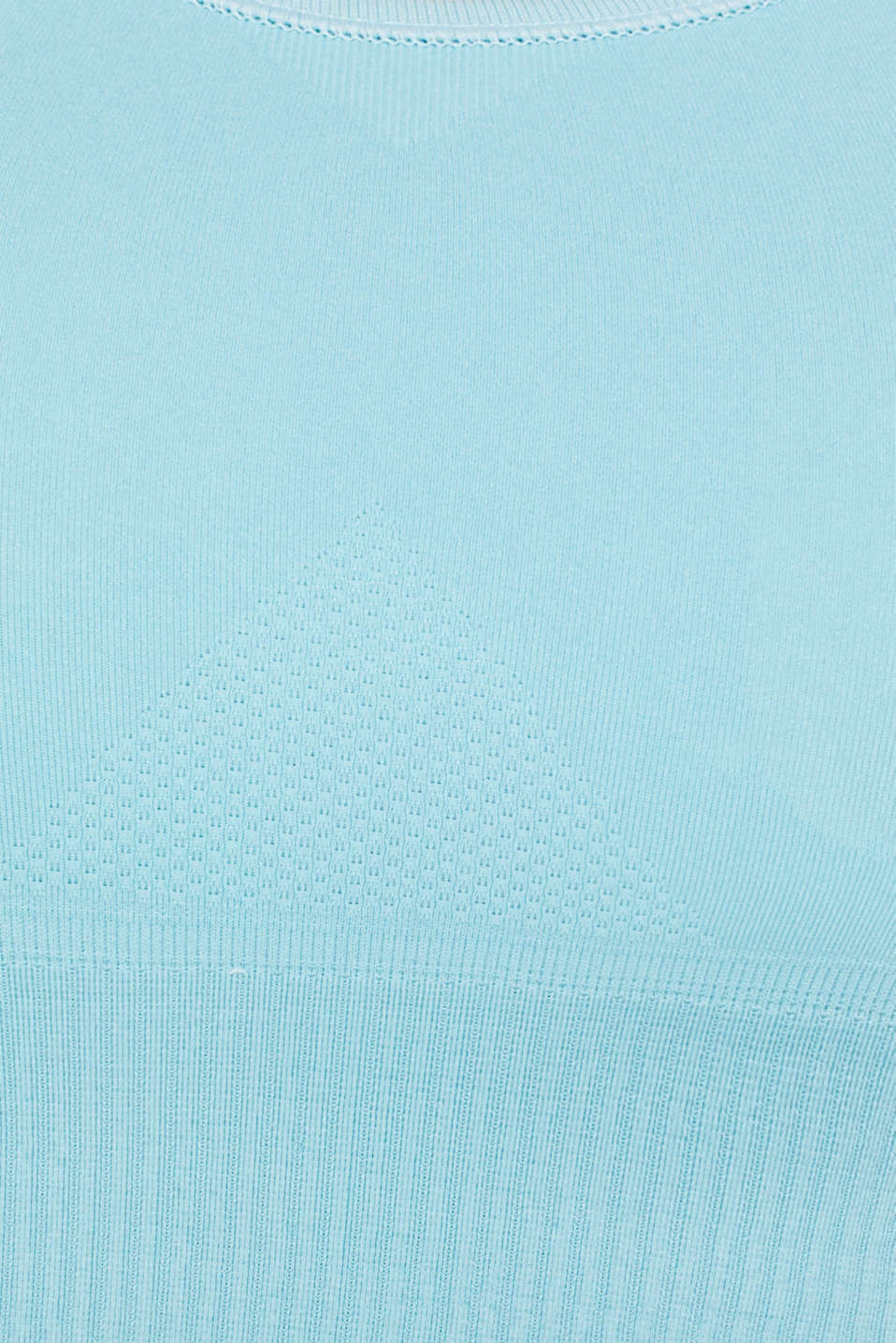 Seamless active bra, E-DRY, LIGHT TURQUOISE, detail image number 4