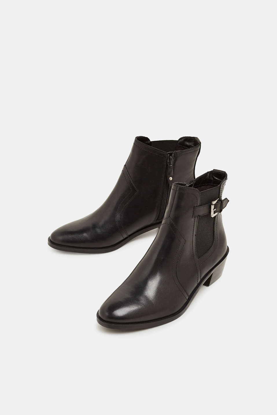 Leather boots, BLACK, detail image number 1