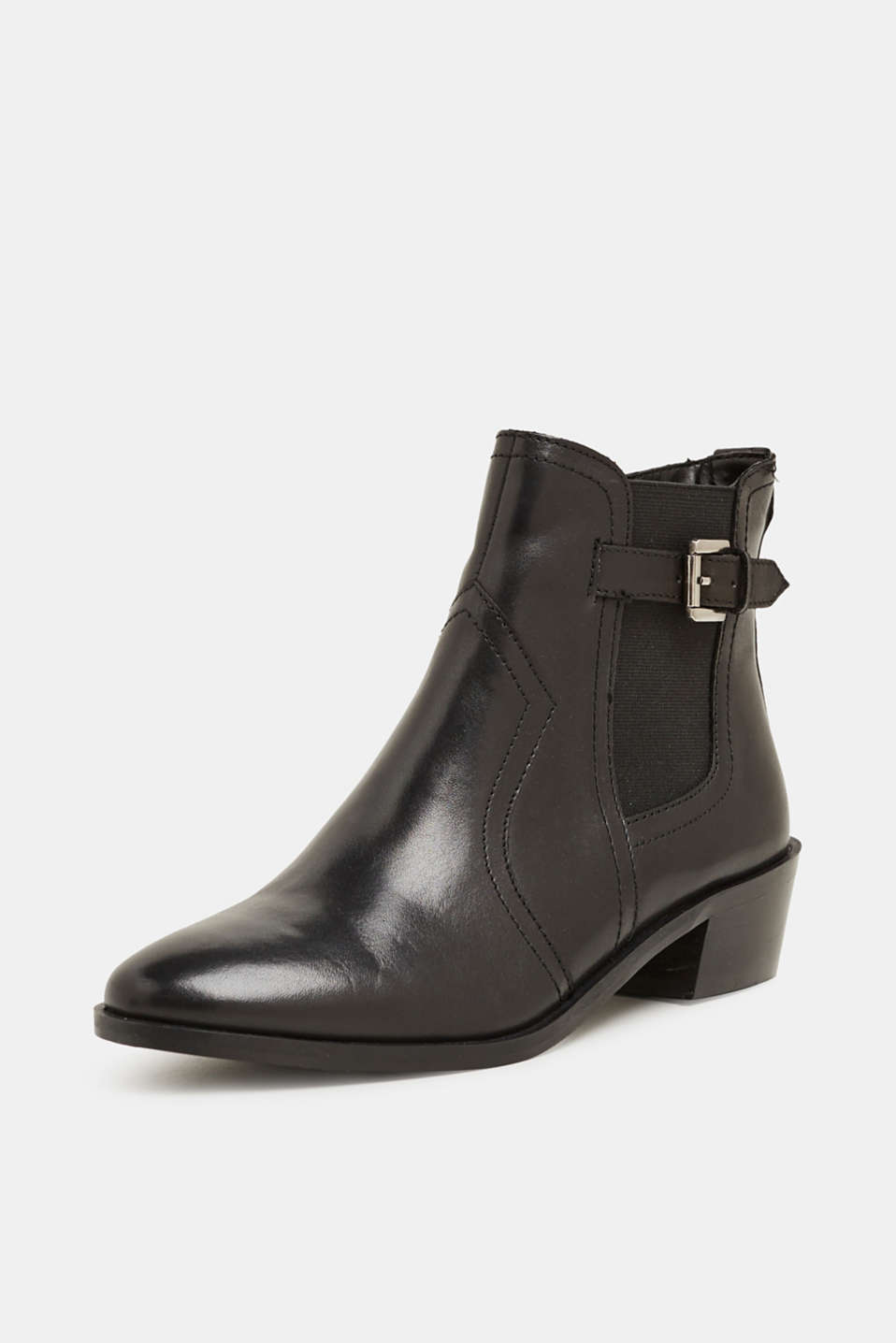 Leather boots, BLACK, detail image number 2