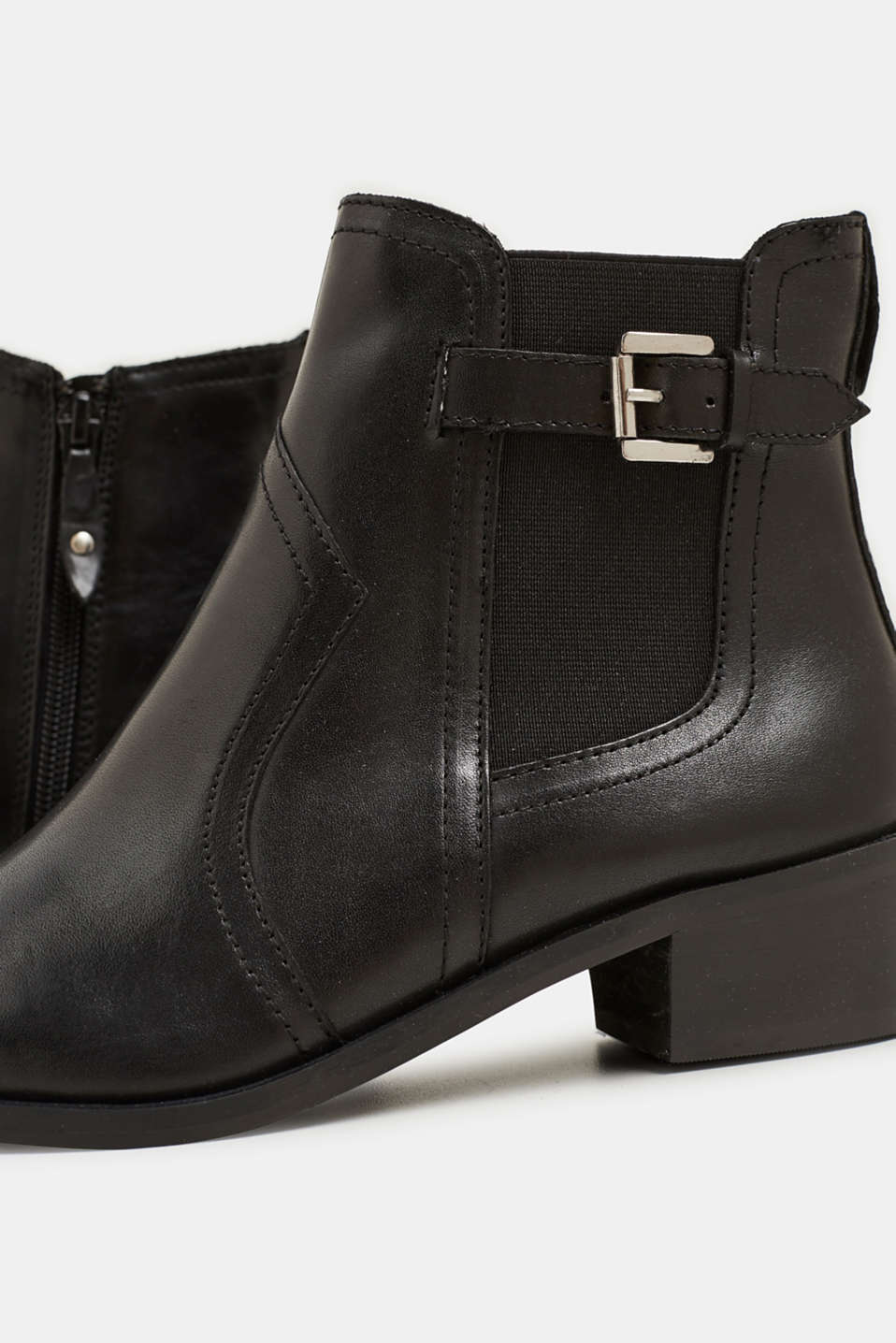 Leather boots, BLACK, detail image number 4