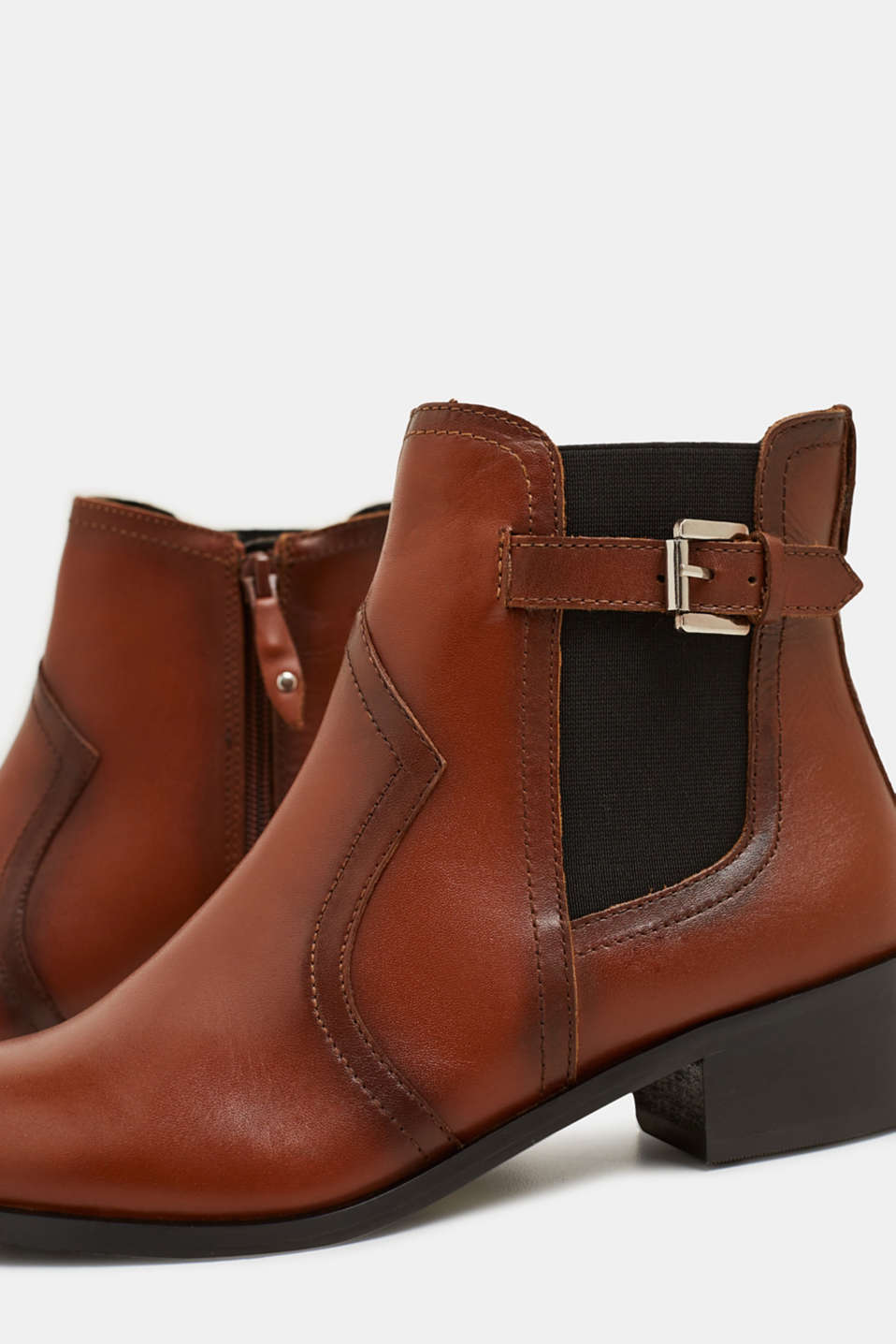 Leather boots, TOFFEE, detail image number 3