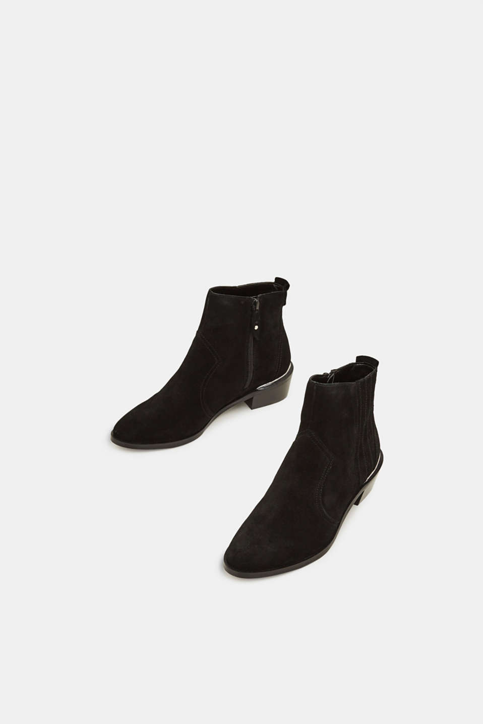 Suede cowboy boots, BLACK, detail image number 1