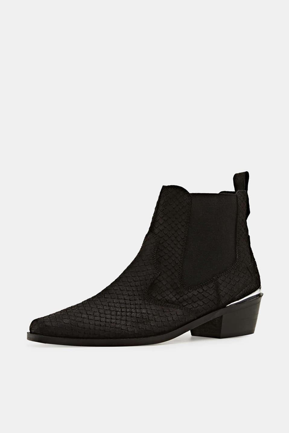 Leather shoes, BLACK, detail image number 2