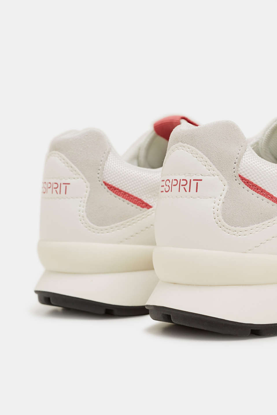 Mixed material trainers with leather details, WHITE, detail image number 5
