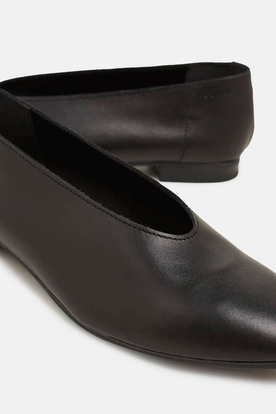 Leather ballerinas, BLACK, detail image number 4