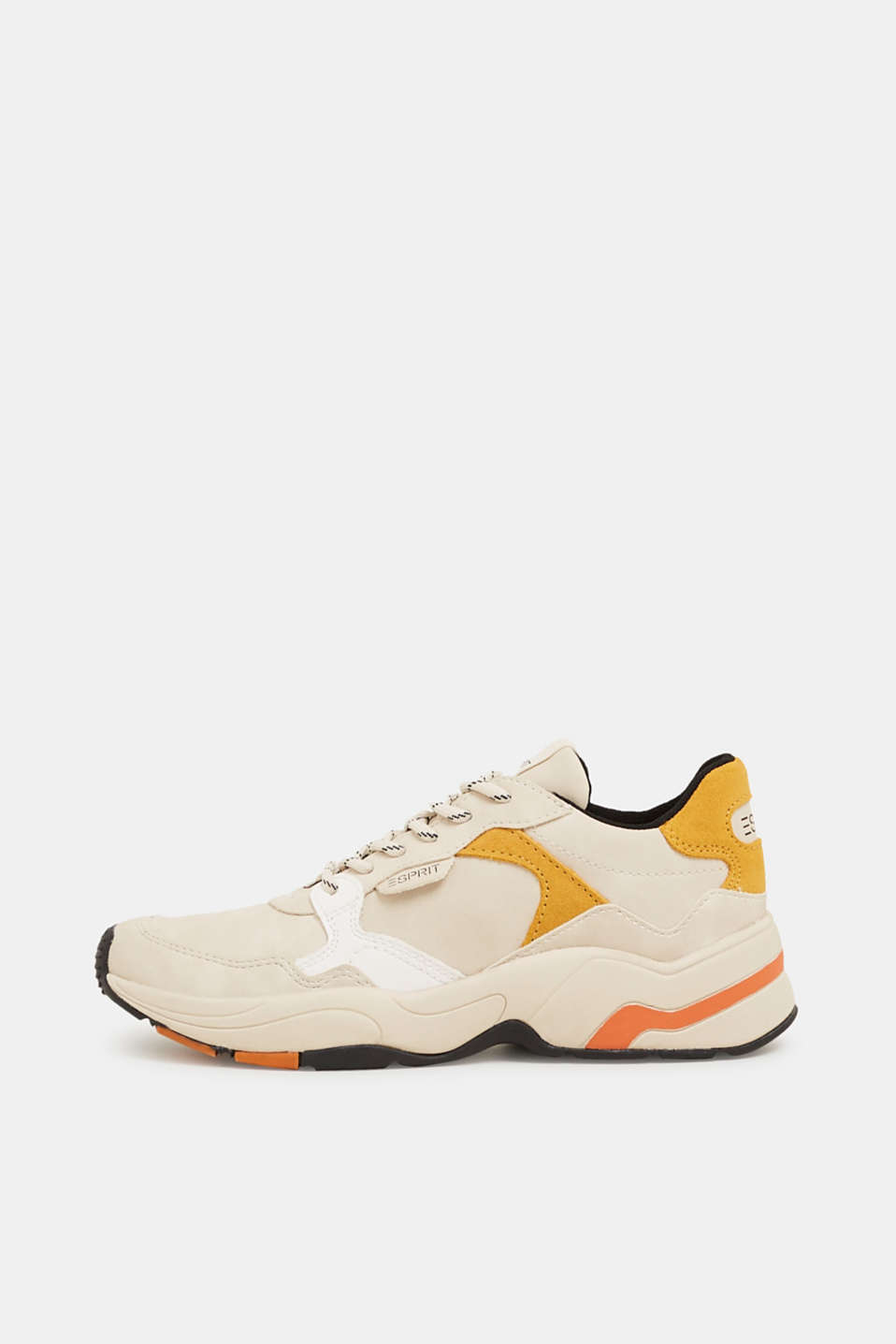 With leather: Trainers with an oversized sole