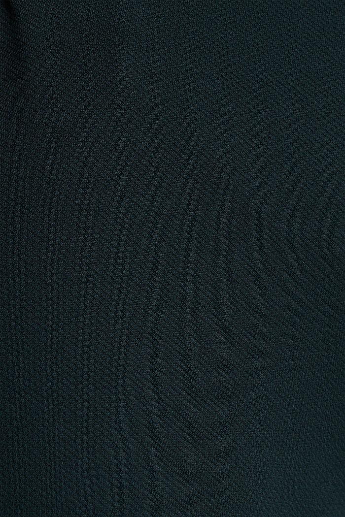 Weite Jersey-Hose mit Twill-Struktur, DARK TEAL GREEN, detail image number 4