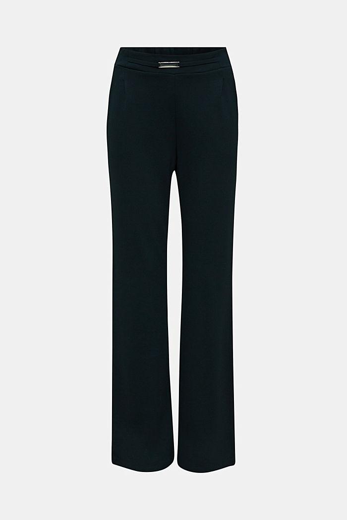 Weite Jersey-Hose mit Twill-Struktur