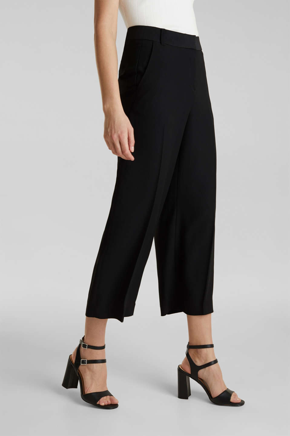 MATT SHINE mix + match culottes, BLACK, detail image number 0