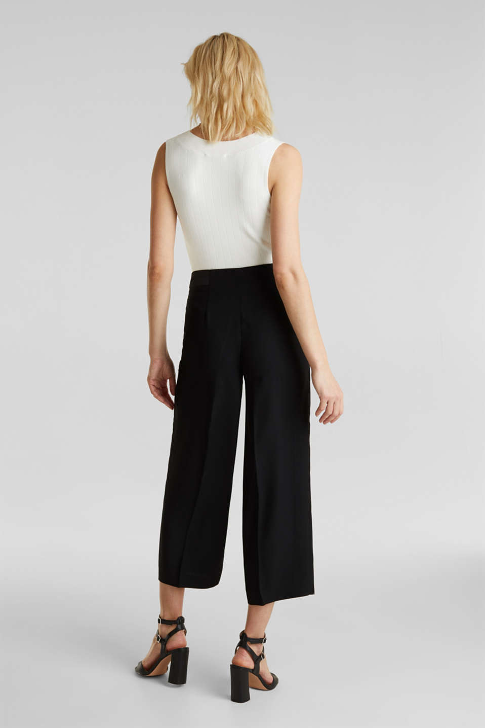 MATT SHINE mix + match culottes, BLACK, detail image number 3