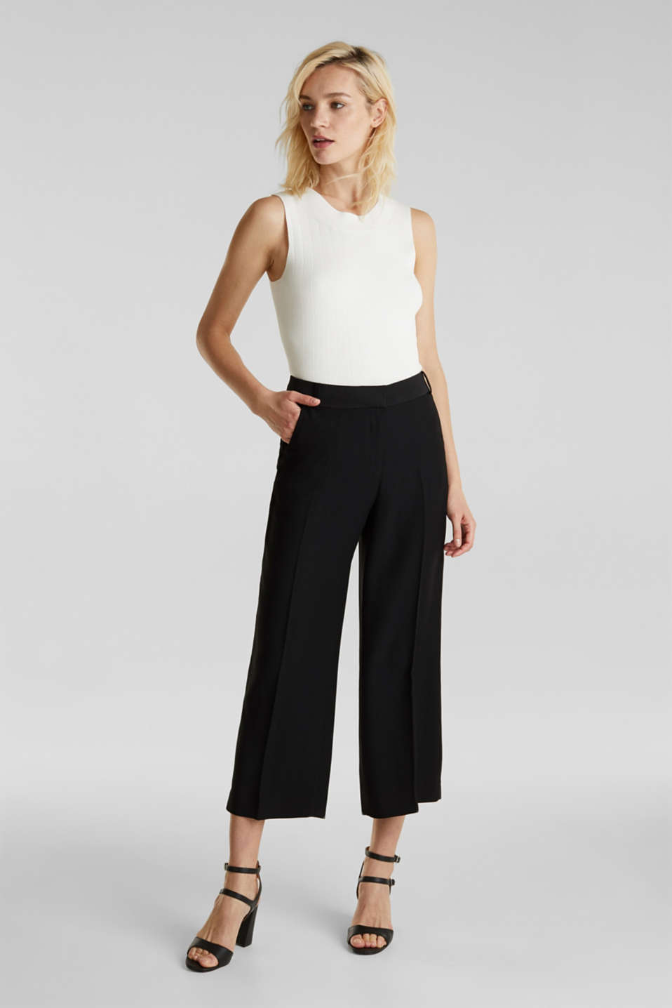 MATT SHINE mix + match culottes, BLACK, detail image number 1