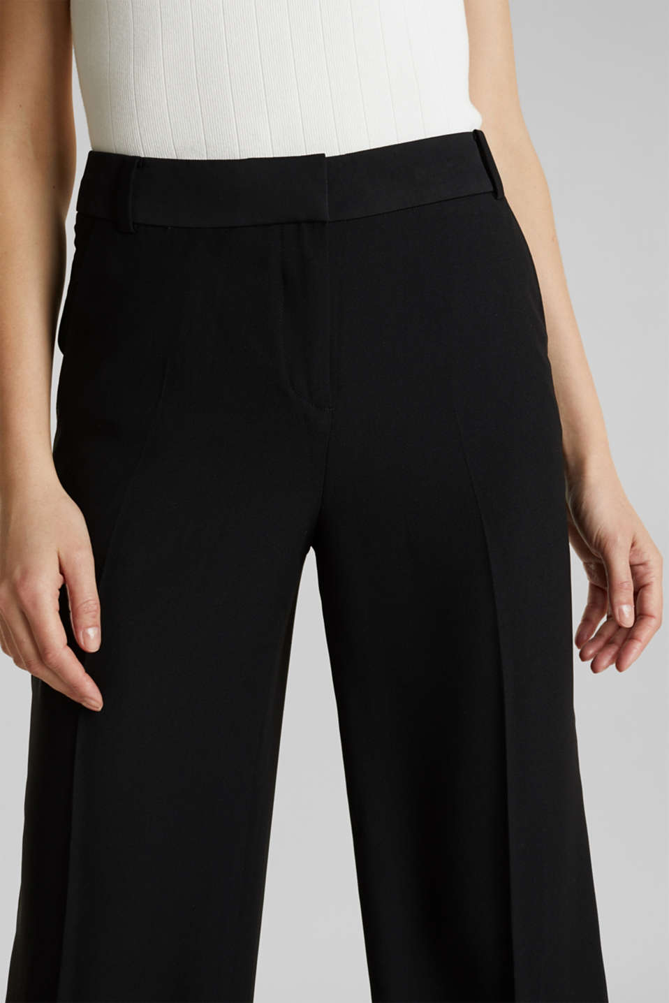 MATT SHINE mix + match culottes, BLACK, detail image number 2