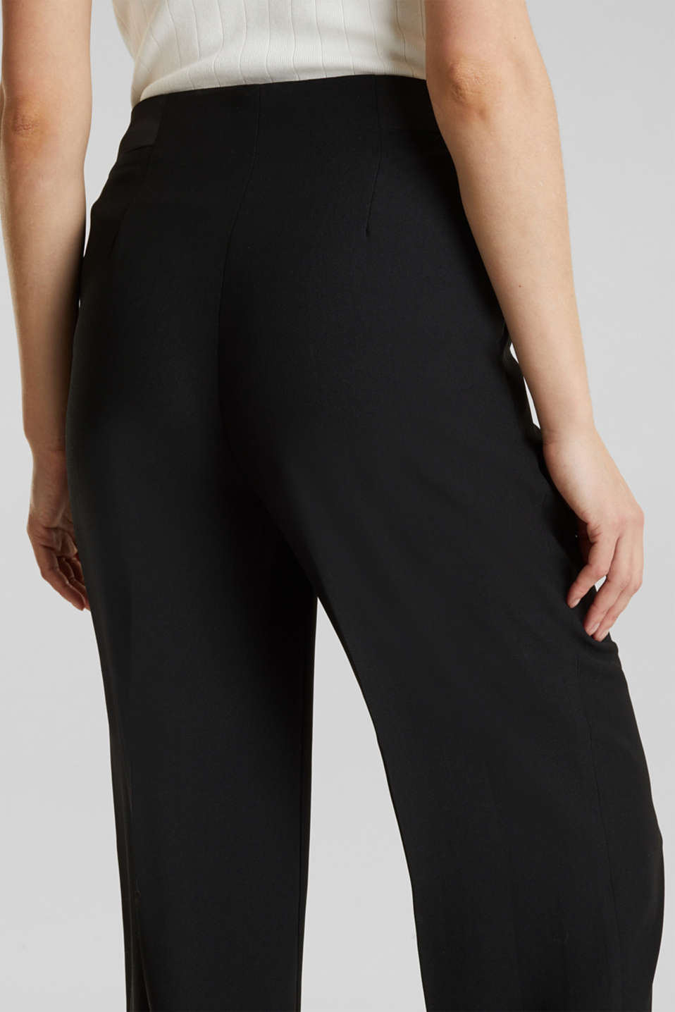 MATT SHINE mix + match culottes, BLACK, detail image number 5
