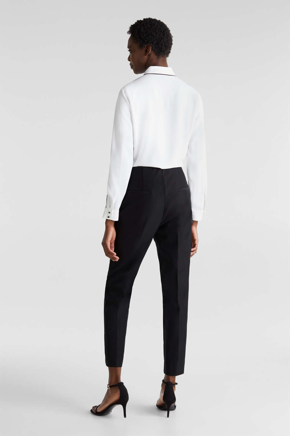 Ankle-length cigarette trousers, BLACK, detail image number 3
