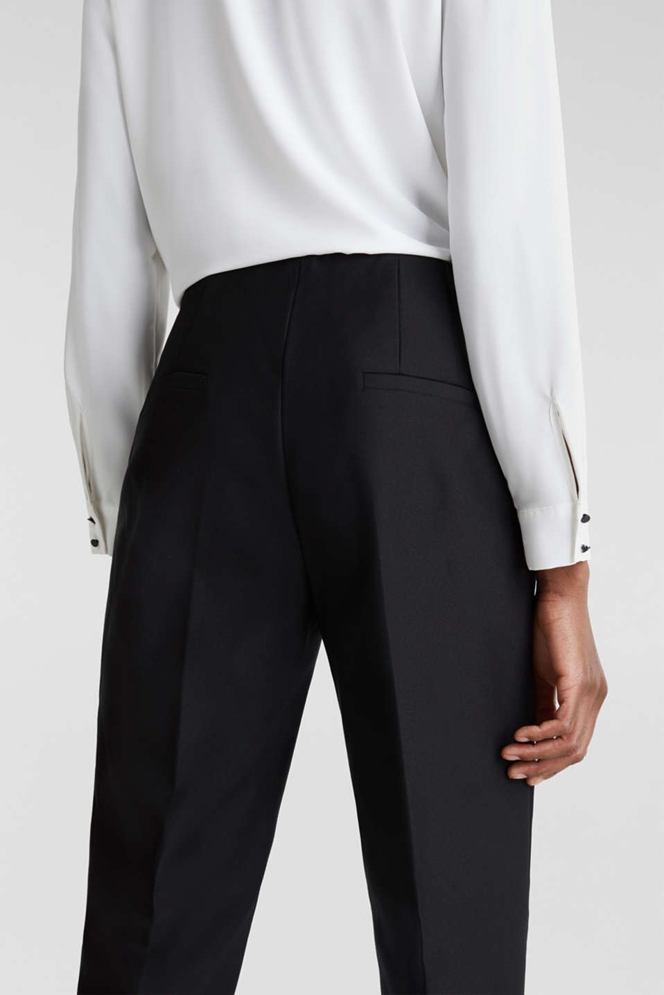 Ankle-length cigarette trousers, BLACK, detail image number 5