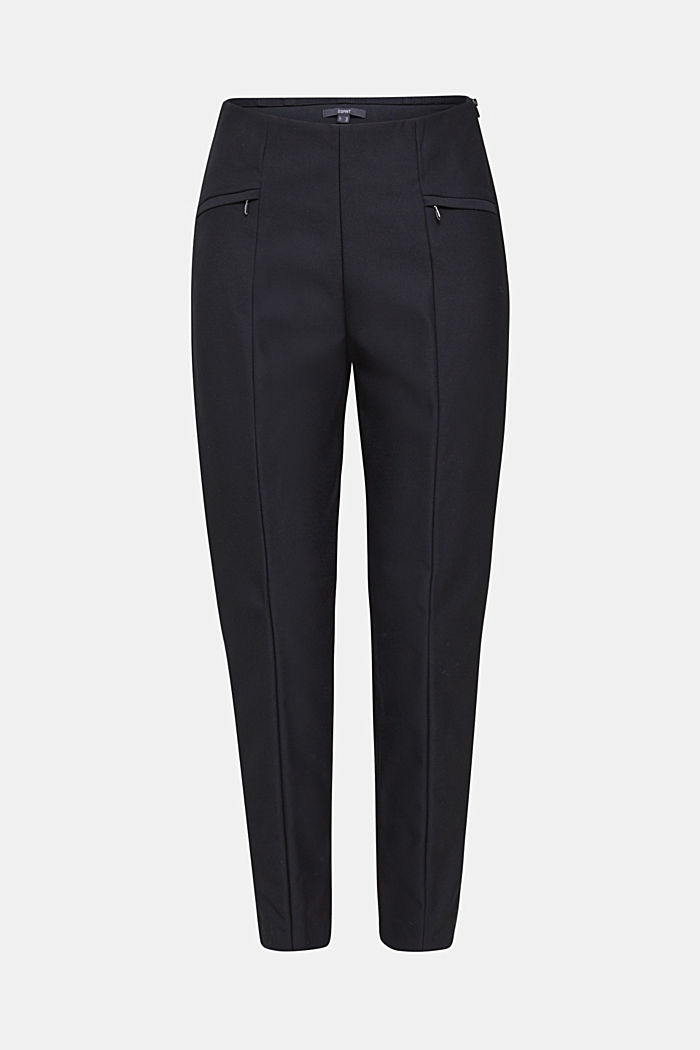 Ankle-length cigarette trousers