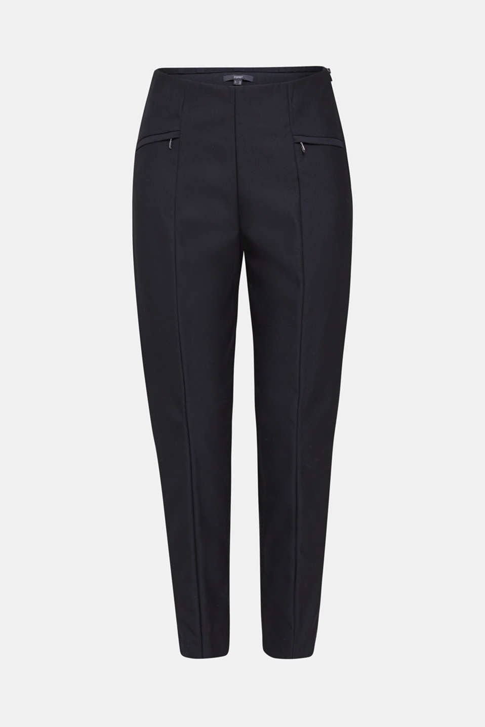 Ankle-length cigarette trousers, BLACK, detail image number 6