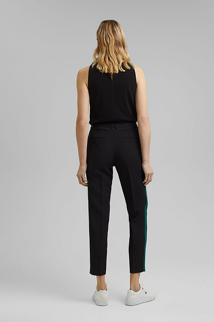 TUXEDO STRIPE mix + match stretch trousers, BLACK, detail image number 3