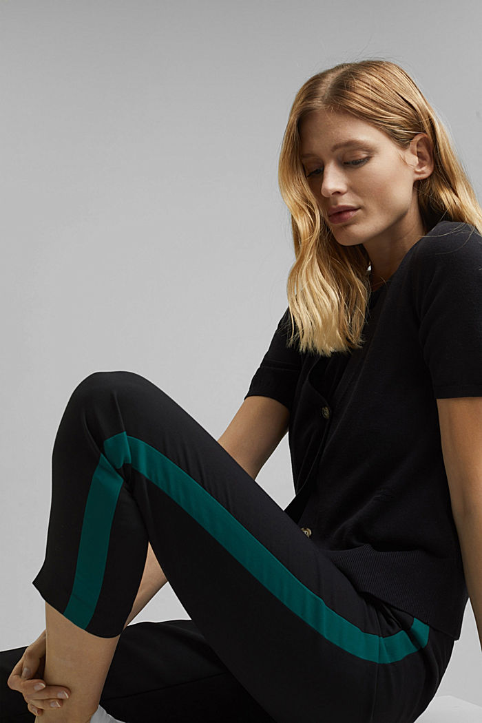 TUXEDO STRIPE mix + match stretch trousers, BLACK, detail image number 5