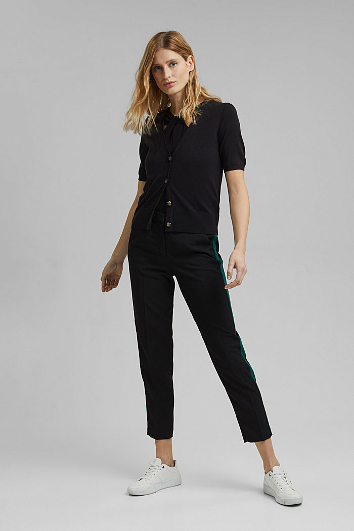 TUXEDO STRIPE mix + match stretch trousers, BLACK, detail image number 1