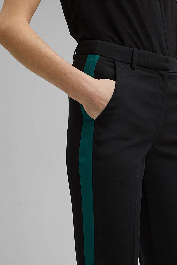 TUXEDO STRIPE mix + match stretch trousers, BLACK, detail image number 2