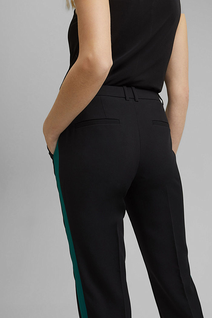 TUXEDO STRIPE mix + match stretch trousers, BLACK, detail image number 4