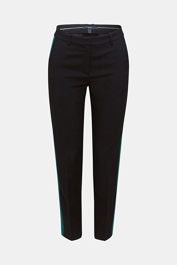 TUXEDO STRIPE mix + match stretch trousers, BLACK, detail image number 6