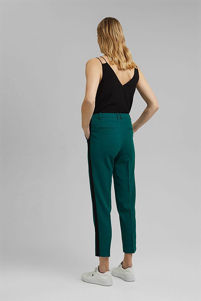 GALONSTRIPE Mix + Match: strečové kalhoty, BOTTLE GREEN, detail image number 3