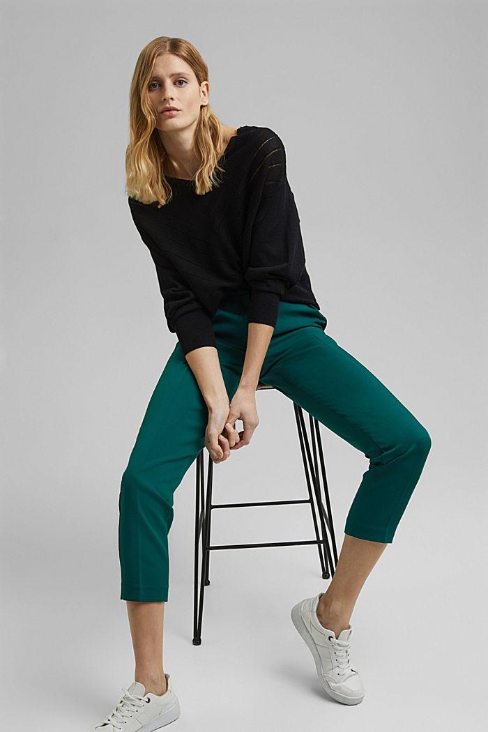 GALONSTRIPE Mix + Match: strečové kalhoty, BOTTLE GREEN, detail image number 5