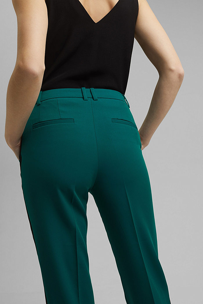 GALONSTRIPE Mix + Match: strečové kalhoty, BOTTLE GREEN, detail image number 4