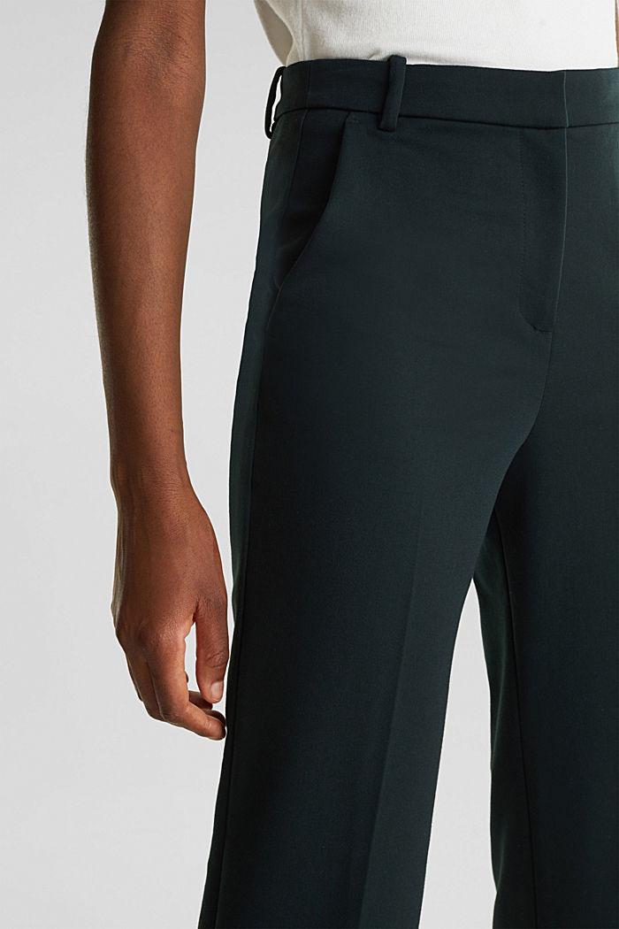 Stretch-Hose mit Bügelfalten, DARK TEAL GREEN, detail image number 2