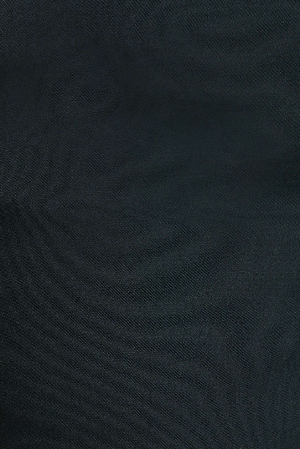 Stretch trousers with pressed pleats, DARK TEAL GREEN, detail image number 4